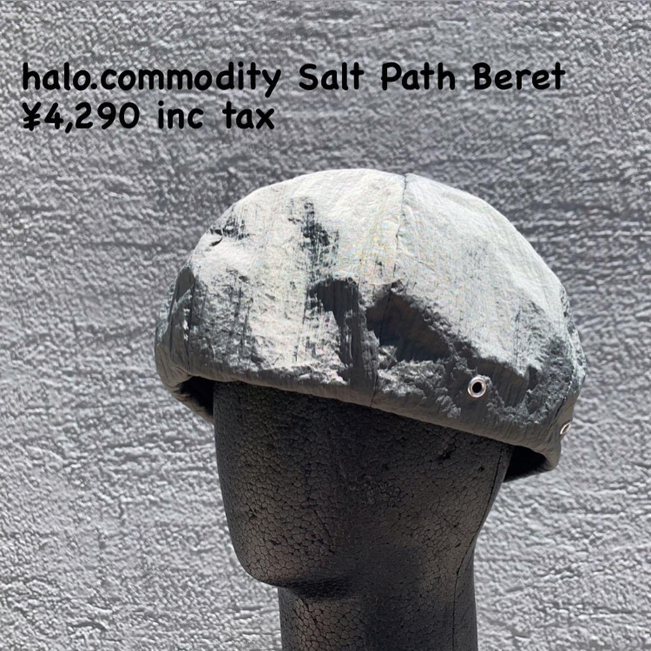 アーバンな印象のベレー帽『halo.commodity ソルト パス ベレー』のご紹介
