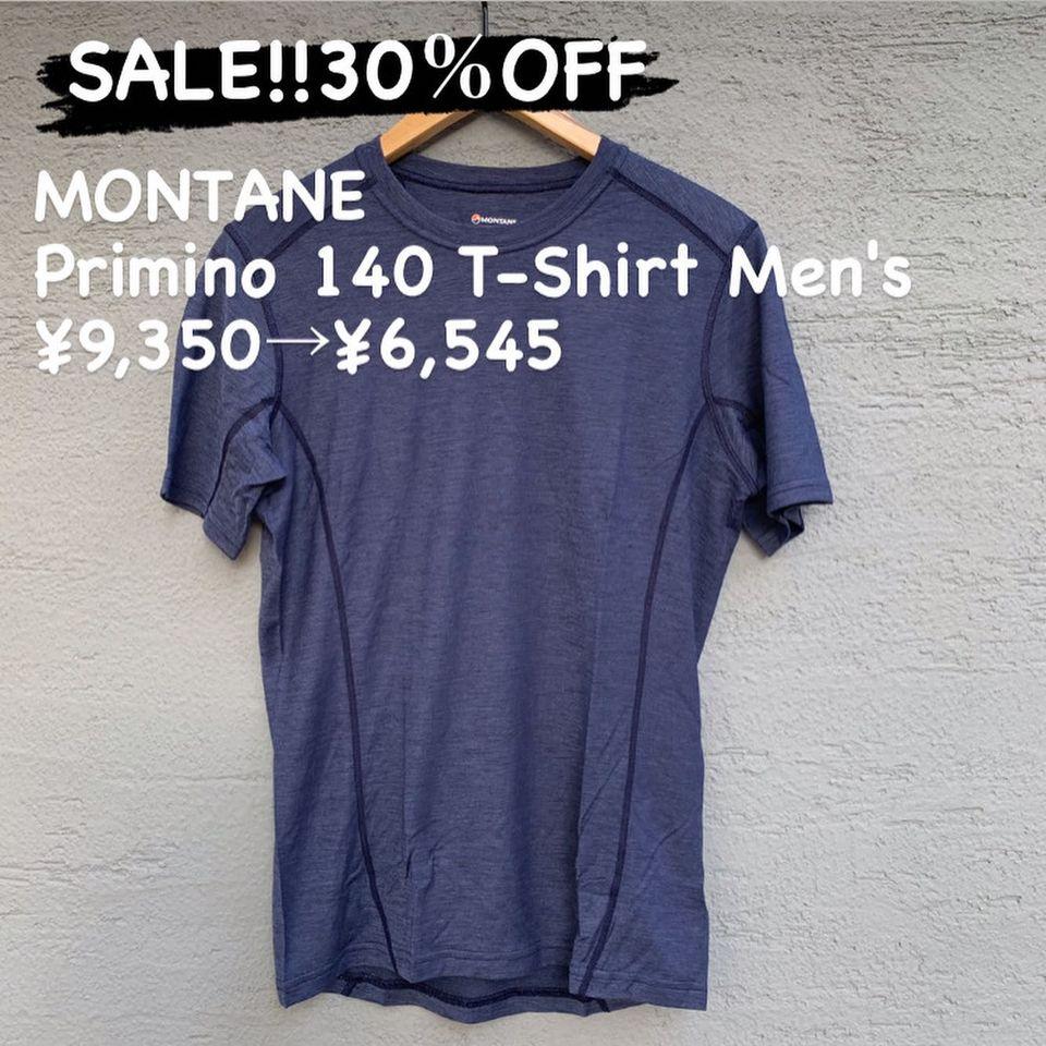 高品質なベースレイヤー『MONTANE プリミノ 140 Tシャツ メンズ』のご紹介