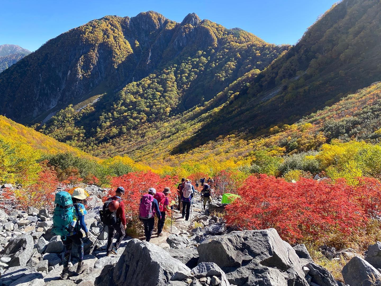 10/1-3はyama楽で北穂高岳へ行ってきました。