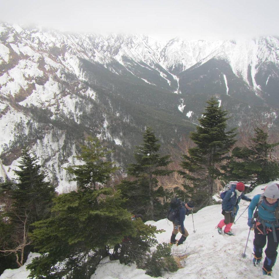 4月の山の講習会雪山編「硫黄岳」