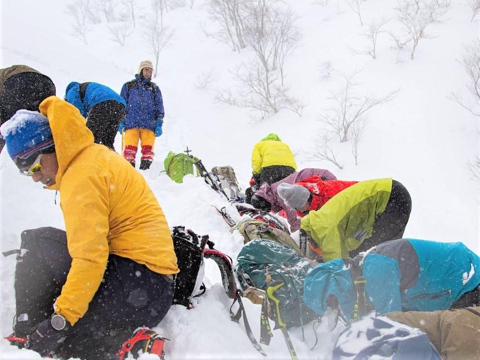2021.12.25 山の講習会雪山編*雪山技術講習会(W12)