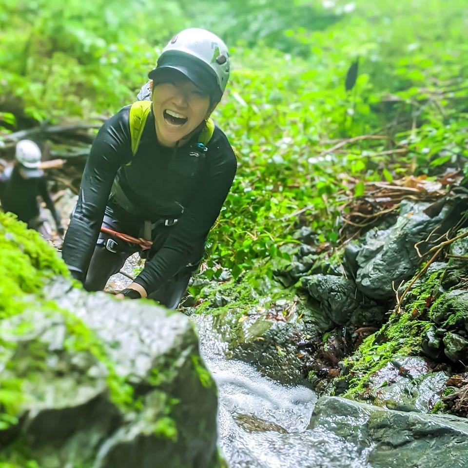 奥多摩の熊倉沢へ沢登りに行ってきました
