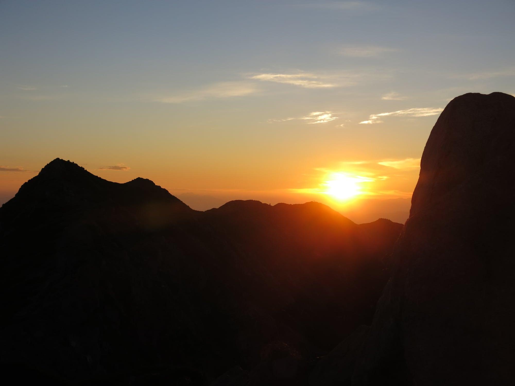 8/29-30 山の講習会中級編で木曽駒ケ岳・宝剣岳・三ノ沢岳に行ってきました(2日目)