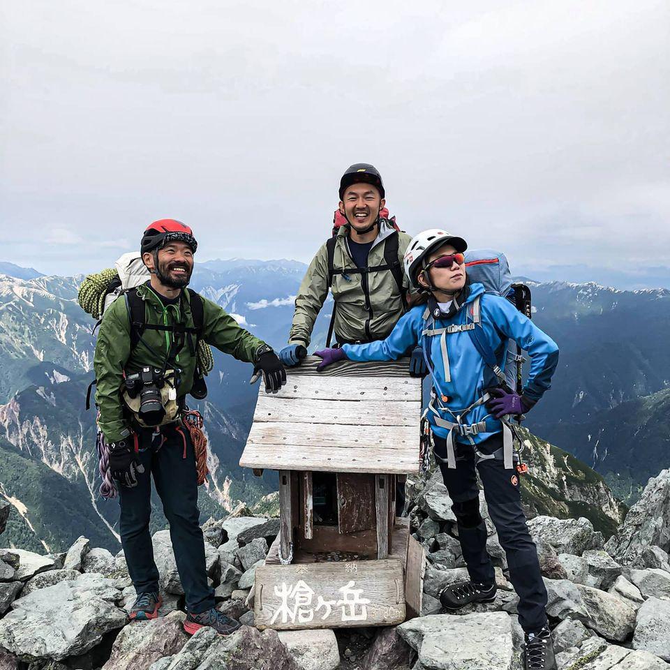槍ヶ岳を北鎌尾根から登ってきました