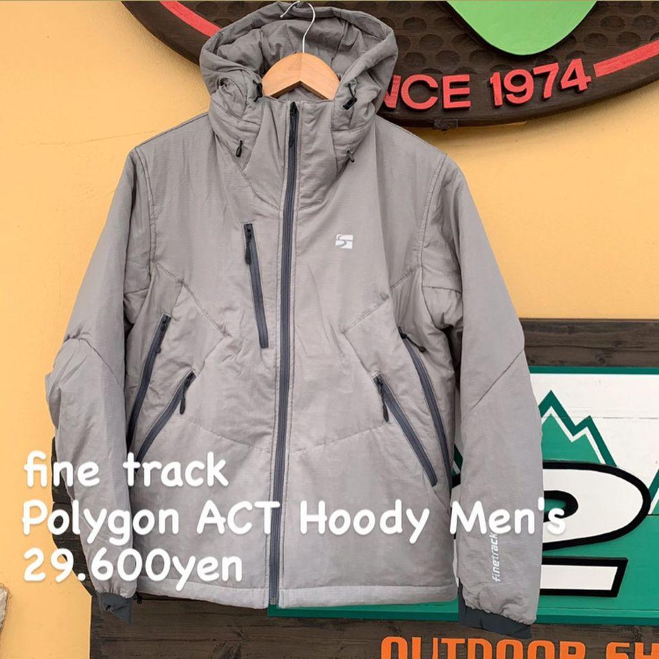 雪山をアクティブに遊ぶ人のための行動保温着。『fine track ポリゴンアクト フーディ メンズ』のご紹介