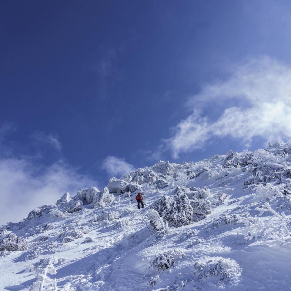 積雪期の八ヶ岳に登る