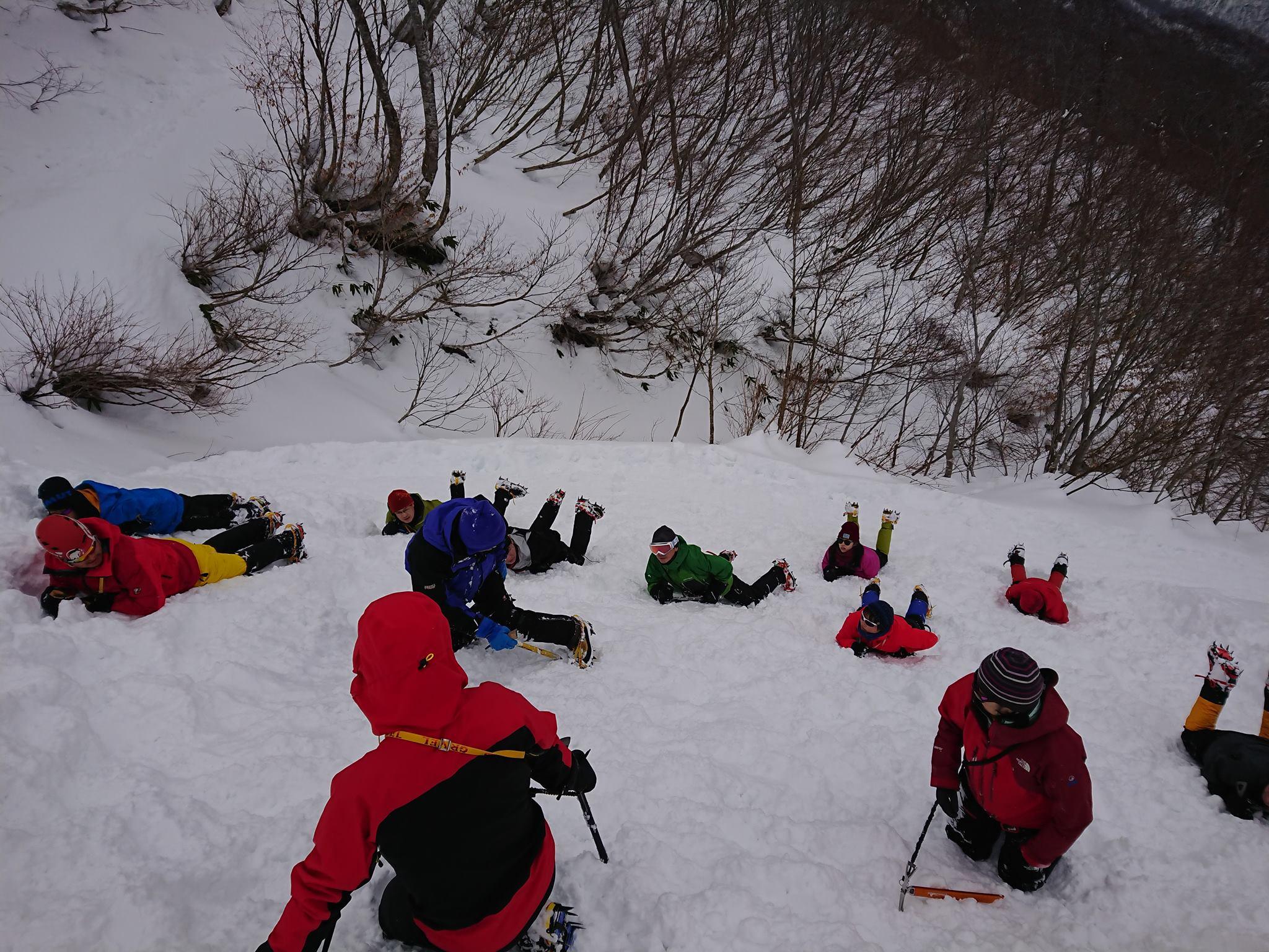 2020.12.26 山の講習会[雪山編]雪山技術講習会(W12)