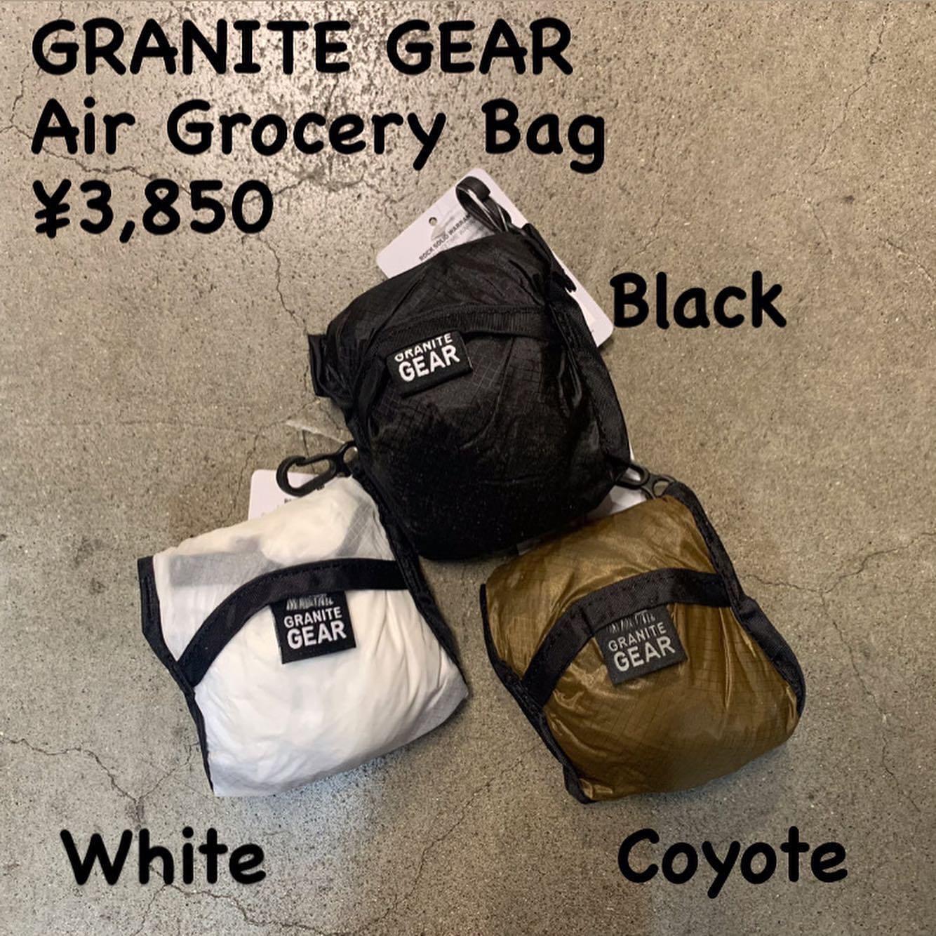 容量もたっぷり、耐水性があり、12kgの荷重まで大丈夫『GRANITE GEAR エアグロッセリーバッグ』のご紹介