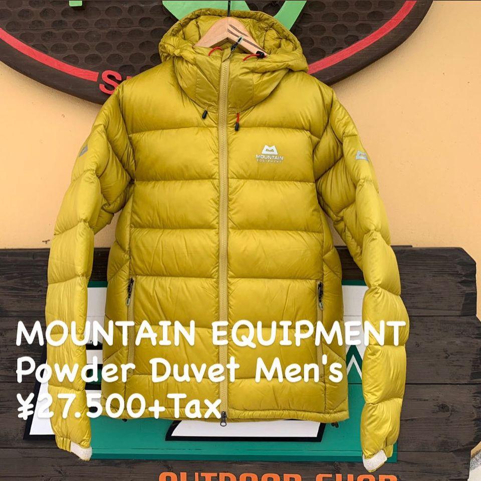 休憩時に役立つダウンウェア『MOUNTAIN EQUIPMENT パウダー デュベ メンズ』のご紹介