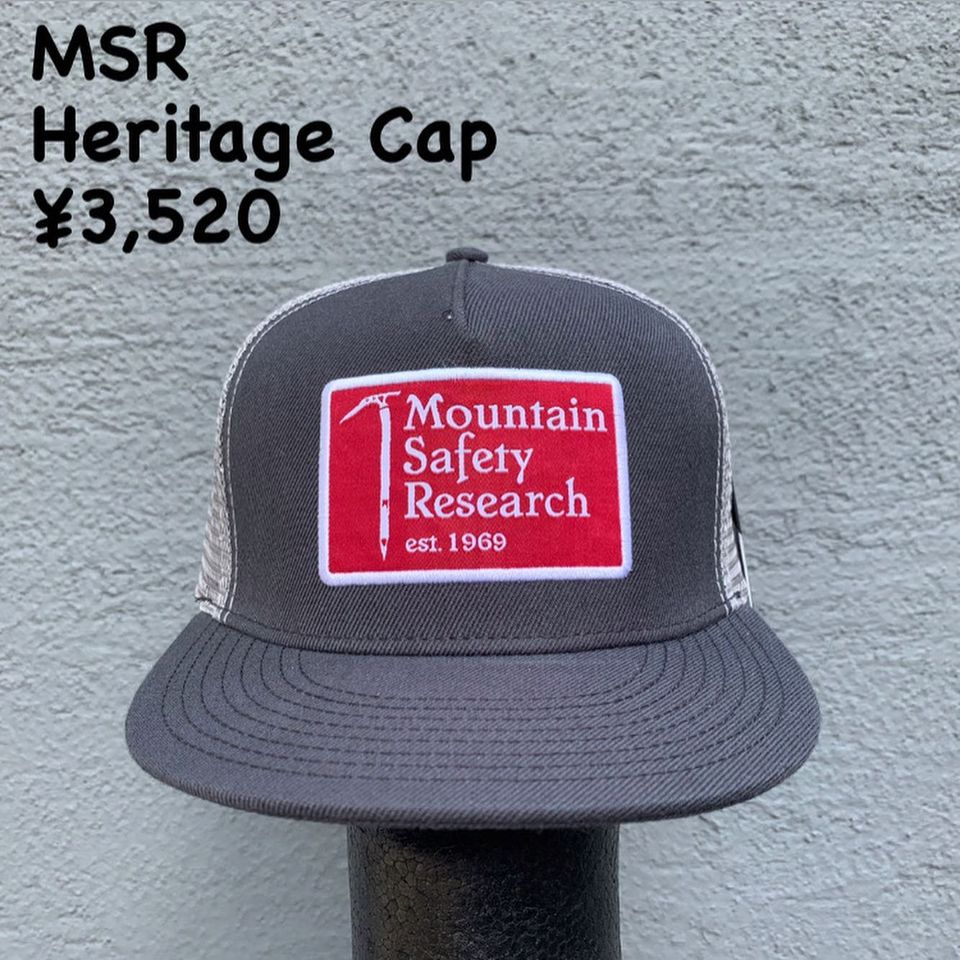 MSR(Mountain Safety Research)のロゴのメッシュキャップのご紹介