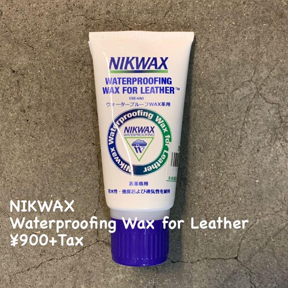 塗布後すぐに撥水効果を発揮『NIKWAX ウォータープルーフWAX革用』のご紹介