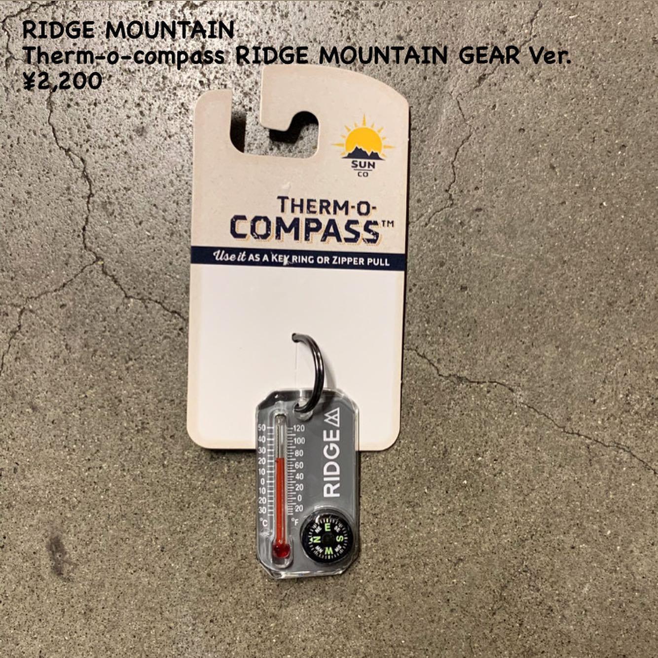 RIDGE MOUNTAIN  GEAR 別注のサンカンパニー製のサーモコンパスのご紹介
