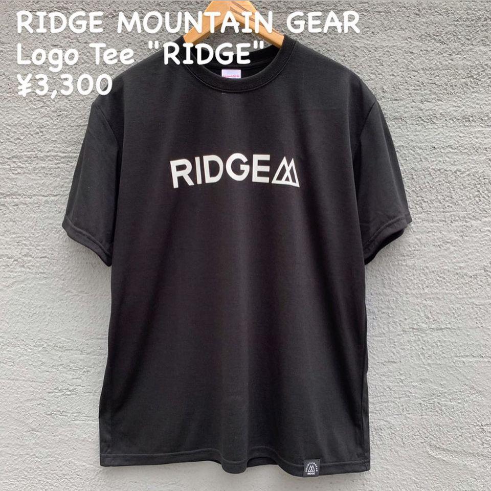 """『RIDGE MOUNTAIN GEAR ロゴ ティー """"RIDGE""""』のご紹介"""