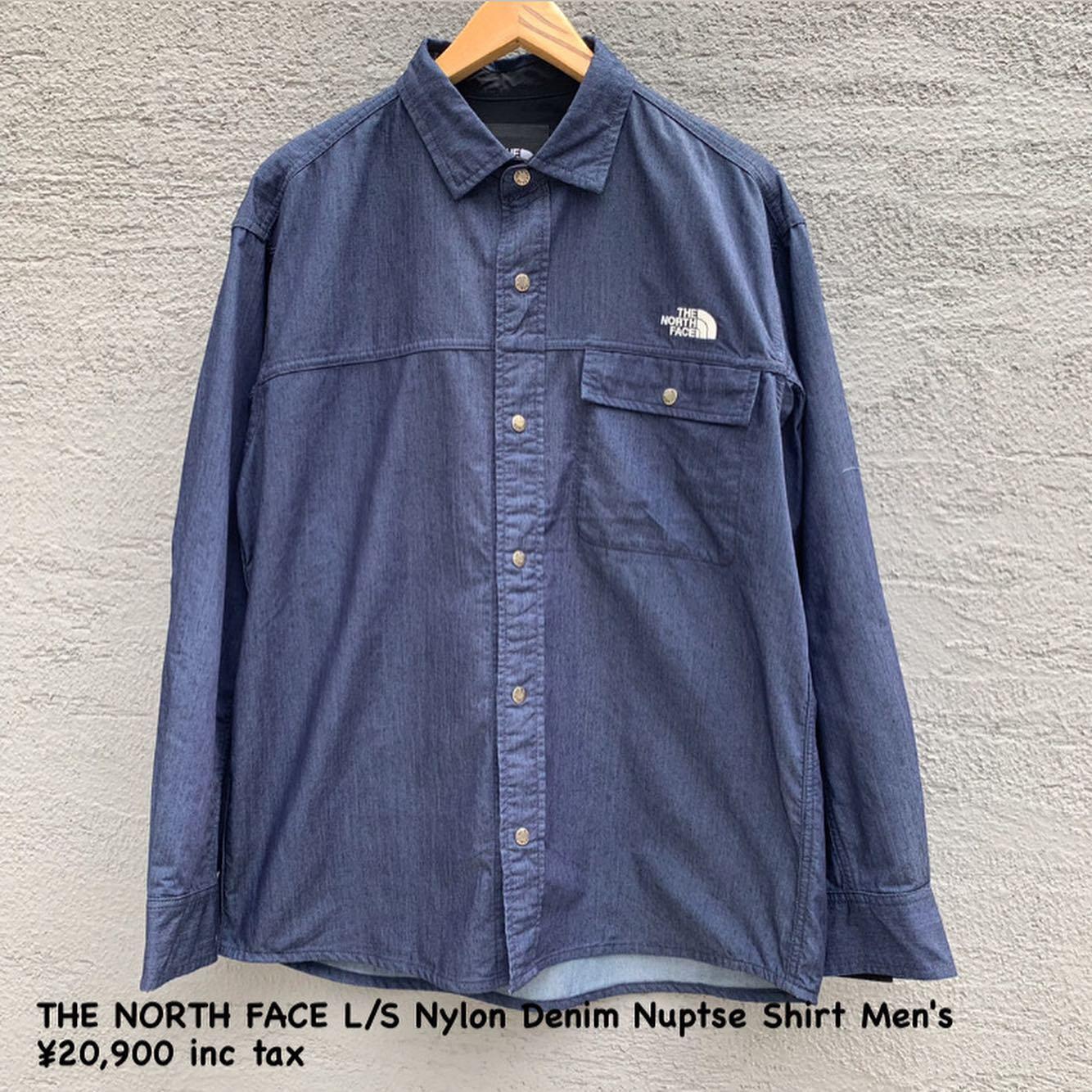 『THE NORTH FACE ロングスリーブナイロンデニムヌプシシャツ メンズ』のご紹介