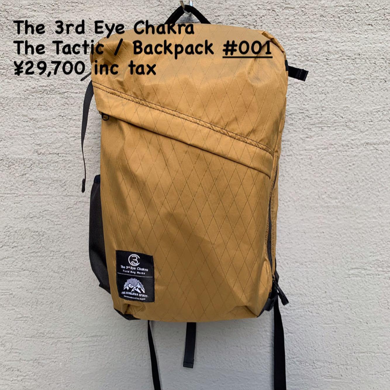 行動するための道具『The 3rd Eye Chakra The Tactic / Backpack #001』のご紹介