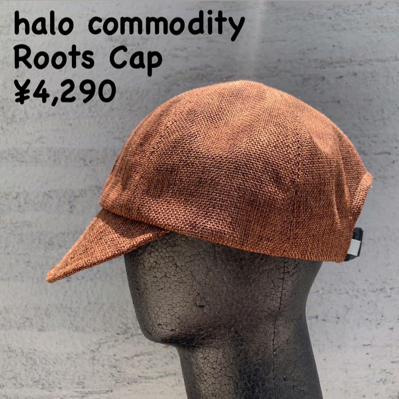 清涼感のある天然ライクなキャップ『halo commodity ルーツキャップ』のご紹介